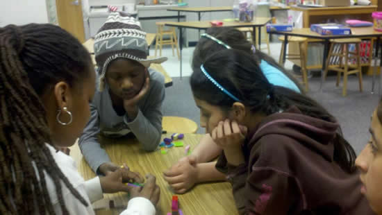 Girls Robotics Class - Learning the theory of Lego Building